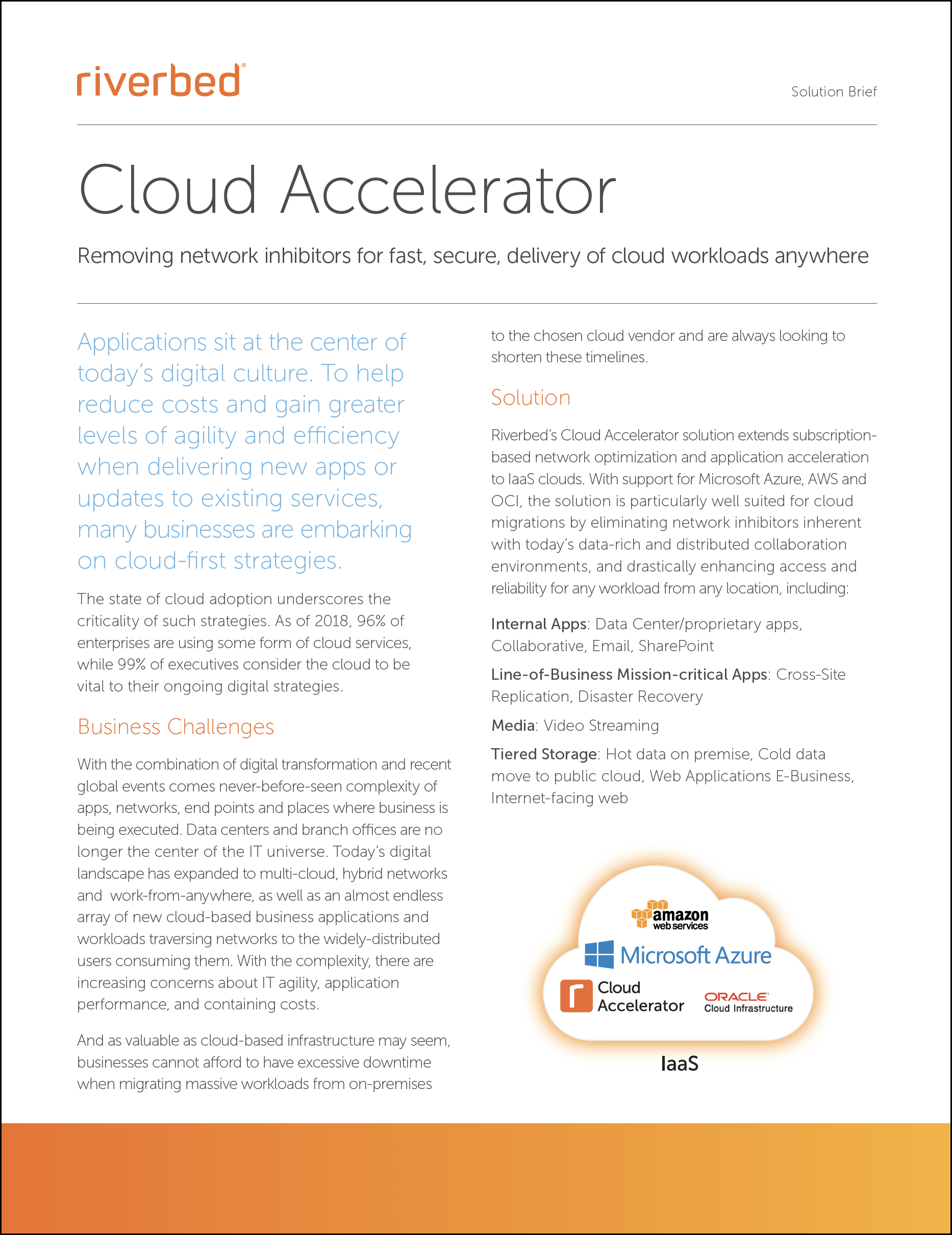 Riverbed Cloud Accelerator Solution Brief Cover
