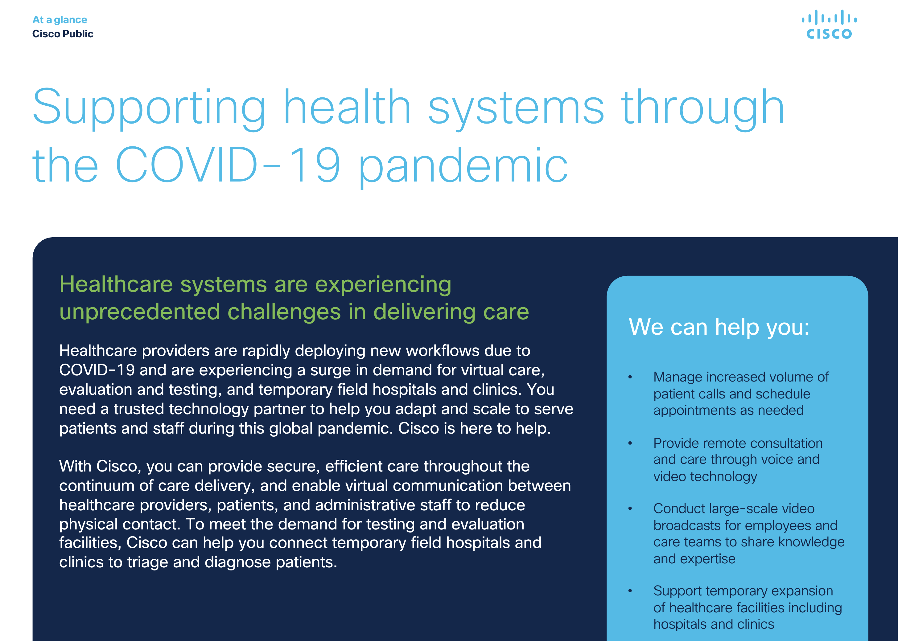 healthcare challenges in pandemic