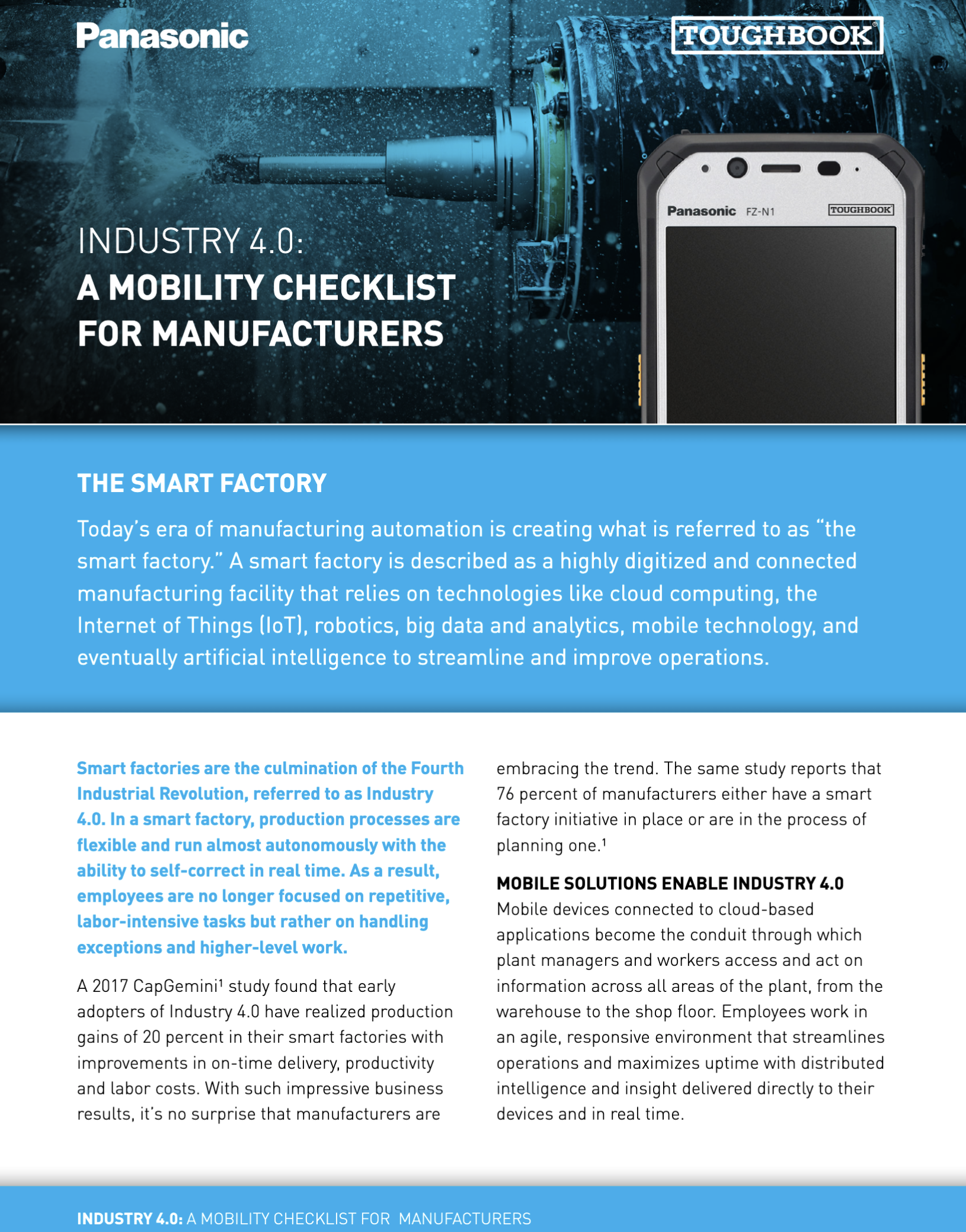 manufacturer smart factory checklist