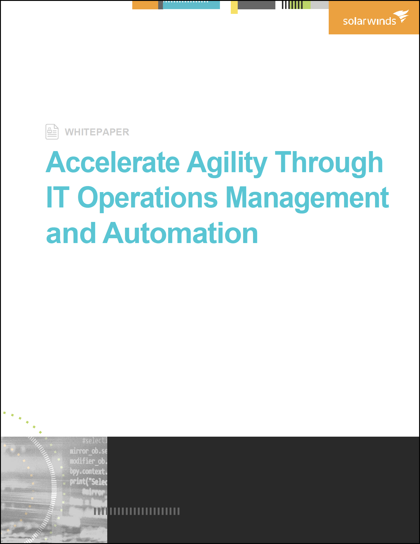 SolarWinds accelerate-agility-itom-automation_Whitepaper Cover