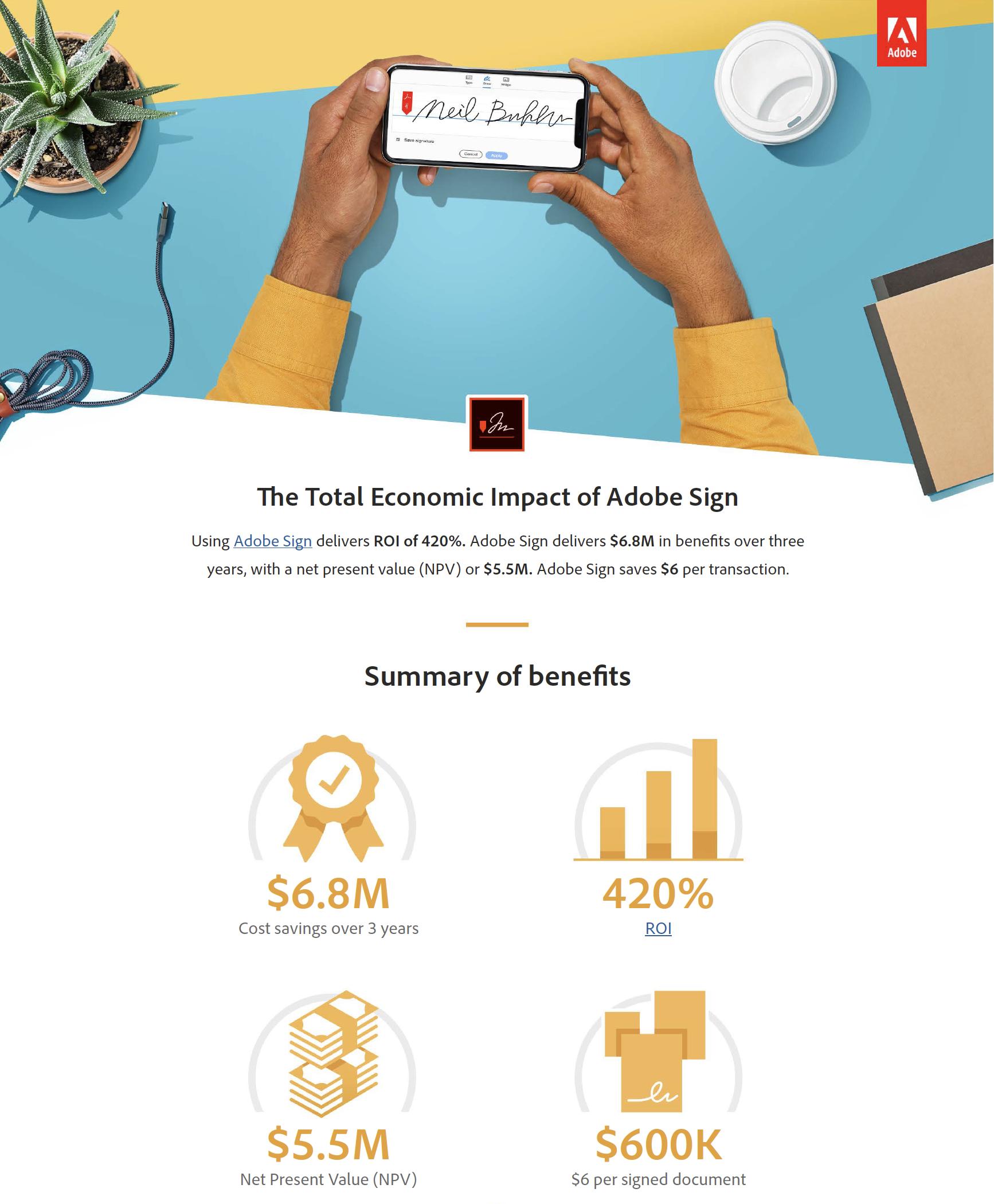 Total Econ Impact Adobe Sign