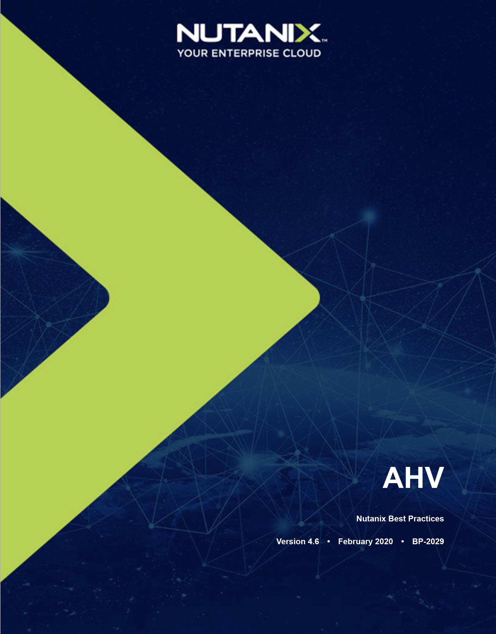 Nutanix AHV Doc Image