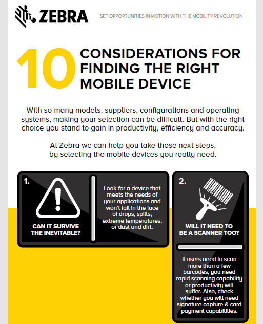 10 Considerations For Finding The Right Mobile Device